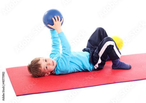 junge beim sport