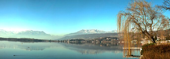Panoramic Viverone lake view