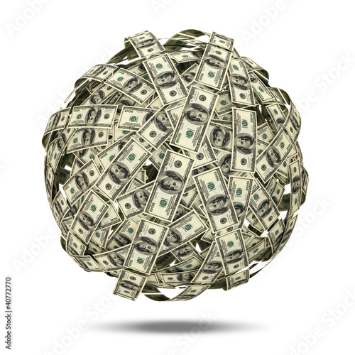 Abstract Sphere from Dollars