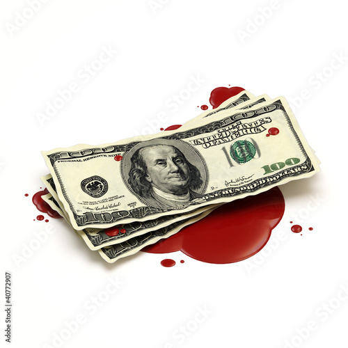 Blood Money Concept
