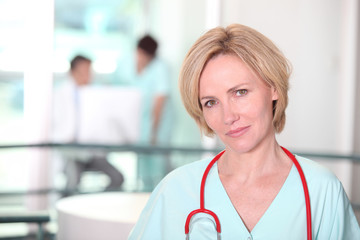 portrait of beautiful female surgeon