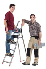 Two male decorators
