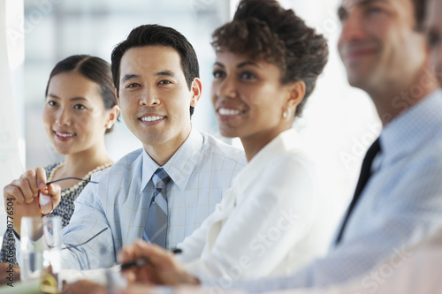 Business people sitting in meeting