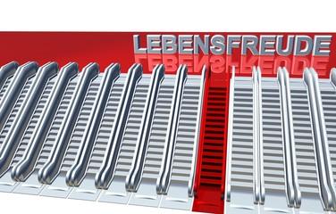 3D Rolltreppen - LEBENSFREUDE