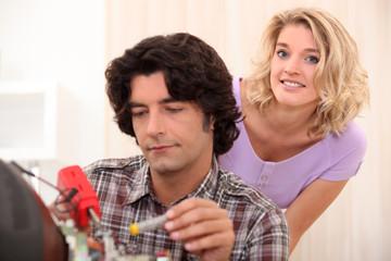 Television repairman