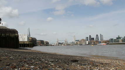 London skyline with the Shard and Tower bridge