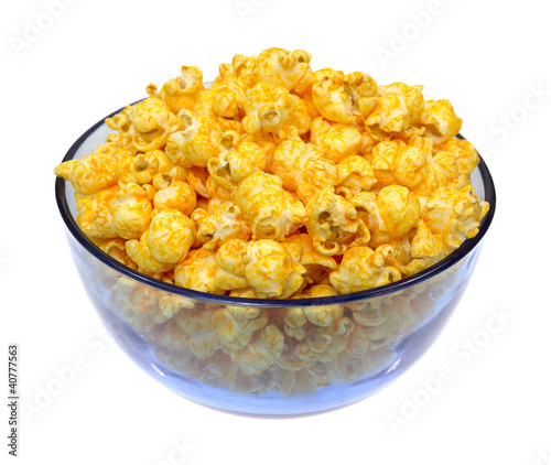 Cheese popcorn in bowl