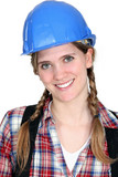 Portrait of a smiling tradeswoman