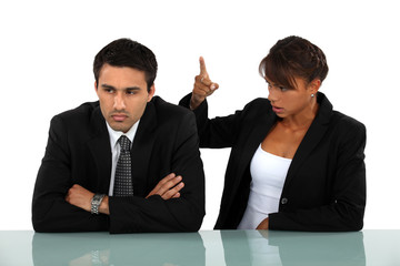 business couple having a quarrel