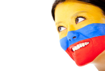 Colombian woman smiling