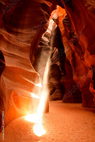 Sunlight beam at Antelope Canyon