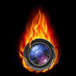 Burning the camera lens