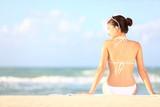 pláž dovolená žena
