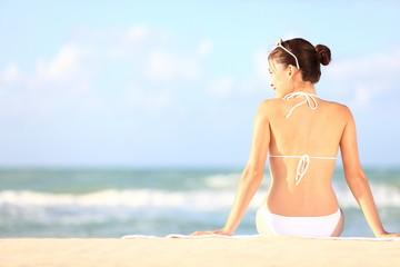 Beach holidays woman