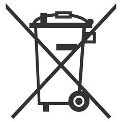 picto défense de jeter à la poubelle
