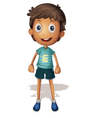 3D illustration of a boy