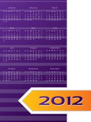 Abstract 2012 calendar design