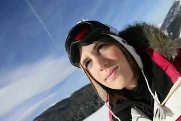Girl skier