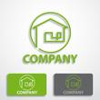 Stylized logo house # Vector