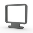 3d Icon Monitor schwarz