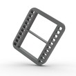 3d Icon Video schwarz