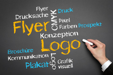Flyer Logo Tag Cloud