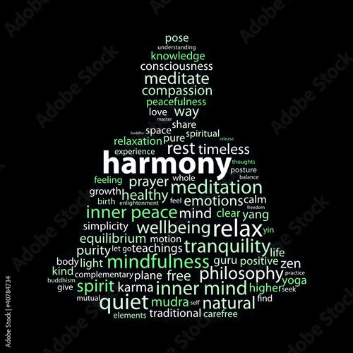 """HARMONY"" Tag Cloud (peace meditation relaxation zen yin yang)"