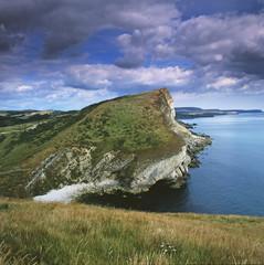 Steep cliffs overlooking ocean
