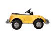 Old vintage yellow toy car