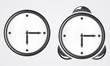 Metal clock.