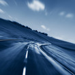 blurred motion road