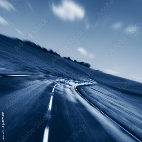 blurred motion road