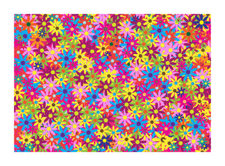 colorful structure floral vector background