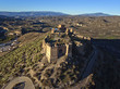 Aerial view of a old castle in Almeria, Spain