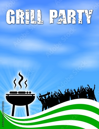 plakat v2 grillparty III
