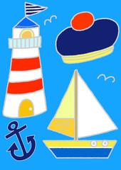 青い海、ぼくの夏休み