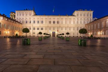 Palazzo Reale di Torino al tramonto (7) - Piazza Castello
