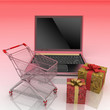 Conception of purchase of gifts on the internet