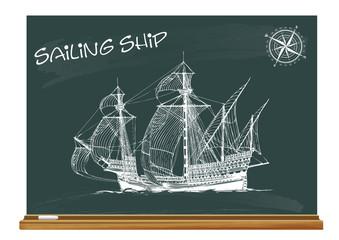 Segelschiff - Vector