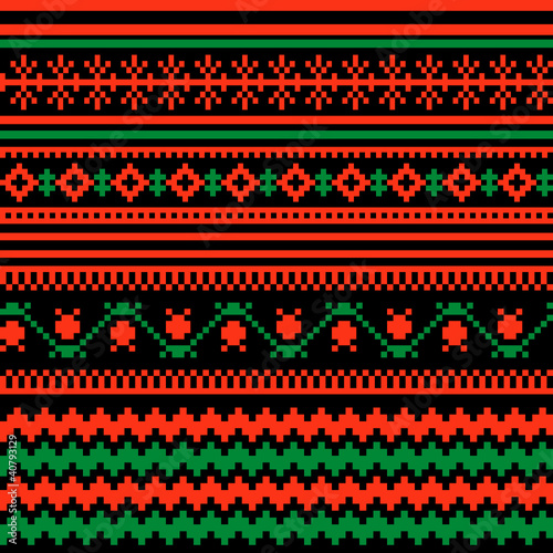 Textile ornamental pattern - 40793129