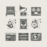 Fototapety musical device set of icon