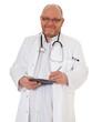 Arzt notiert etwas
