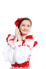 girl in traditional clothes