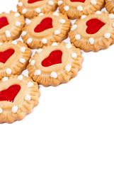 Heart cookies background