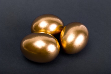 Golden eggs. A symbol of making money and successful investment
