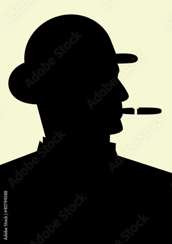 Gentleman smoking a cigar