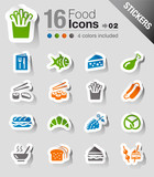 Fototapety Stickers - Food Icons