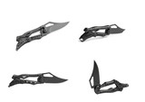 Black tactical knife collages
