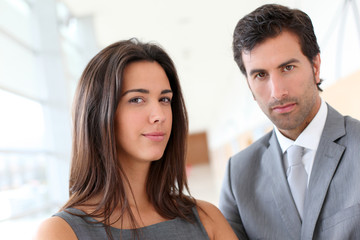 Portrait of business partners looking at camera