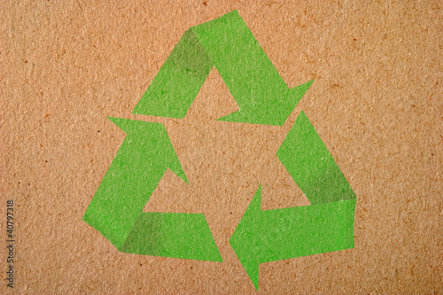 Natural background with recycle symbol